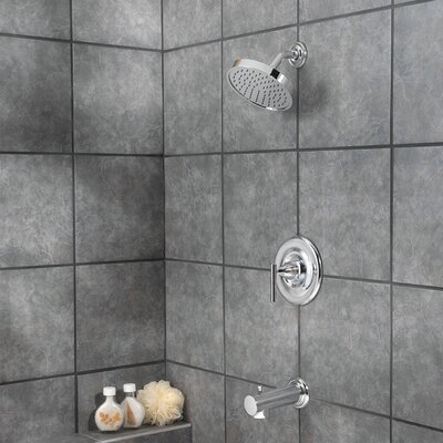 Contempra Diverter Tub and Shower Faucet Trim with Lever Handle Finish: Polished Chrome