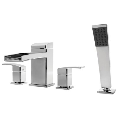 Kenzo Roman Tub and Shower Faucet Trim with Lever Handles Finish: Polished Chrome