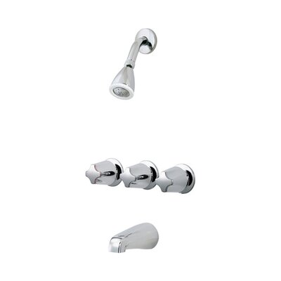 Bedford Diverter Tub and Shower Faucet Trim with Knob Handles