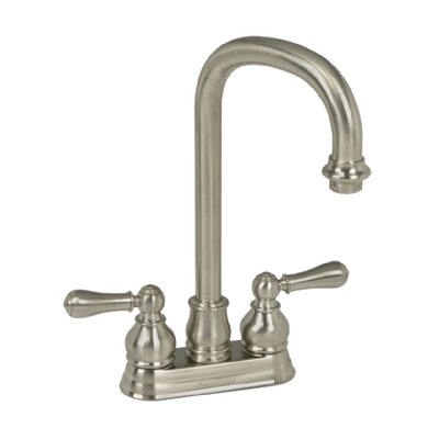 Hampton Two Handle Centerset Bar Faucet with Optional Lever Handles Finish: Satin Nickel, Handle Type: Metal Lever