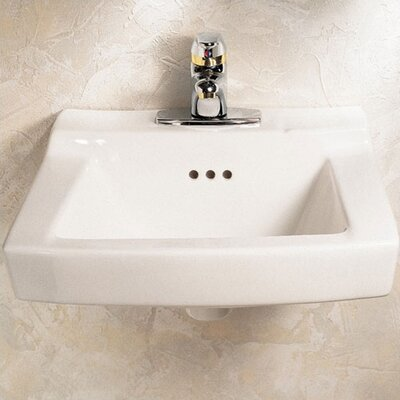 Comrade 20 Wall Mount Bathroom Sink with Overflow Sink Finish: White