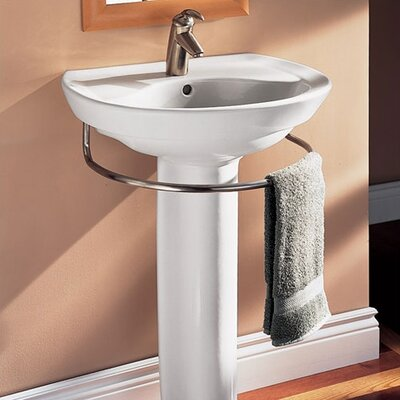 Ravenna Vitreous China 25 Pedestal Bathroom Sink with Overflow