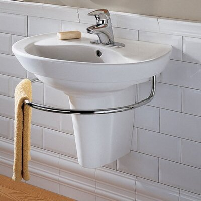 Ravenna Vitreous China U-Shaped Pedestal Bathroom Sink with Overflow