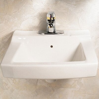 Declyn 19 Wall Mount Bathroom Sink with Overflow Sink Finish: White
