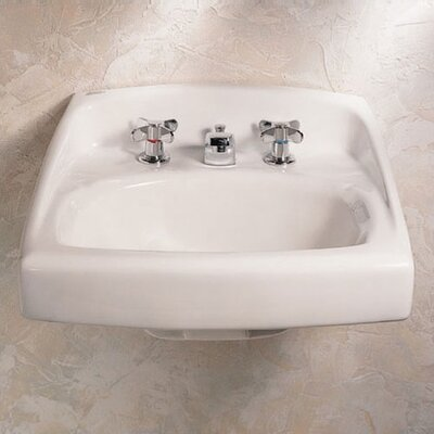 Lucerne Ceramic 21 Wall Mount Bathroom Sink with Overflow