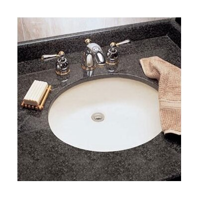 Ovalyn Oval Undermount Bathroom Sink with Overflow Sink Finish: White