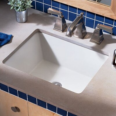 Boulevard Rectangular Undermount Bathroom Sink with Overflow Sink Finish: White