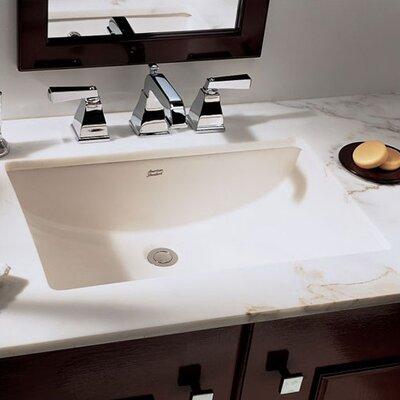 Studio Rectangular Undermount Bathroom Sink with Overflow Sink Finish: Linen