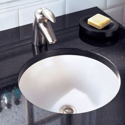 Orbit Circular Undermount Bathroom Sink with Overflow Sink Finish: White