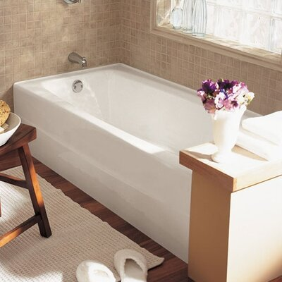 Spectra 66 x 32 Cast Iron Soaking Bathtub Drain Location: Left