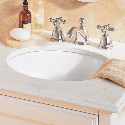 Ovalyn Universal Access Oval Undermount Bathroom Sink with Overflow Sink Finish: White