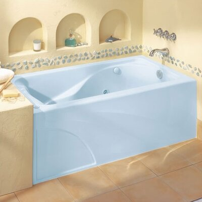 Cadet 60 x 32 Air/Whirlpool Bathtub with Hydro Massage System l / Integral Apron and Right Hand Outlet Finish: White