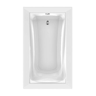 Green Tea 60 x 36 Air Bathtub Finish: White