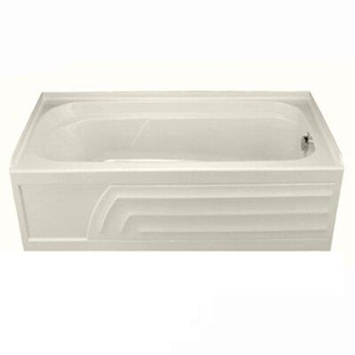 Colony 66 x 32 Soaking Bathtub with Integral Apron Finish: Linen, Drain Location: Right