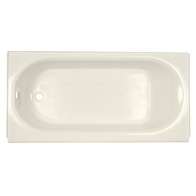 Princeton 60 x 34 Above Floor Luxury Ledge Americast Recessed Soaking Bathtub Finish: Linen, Drain Location: Left