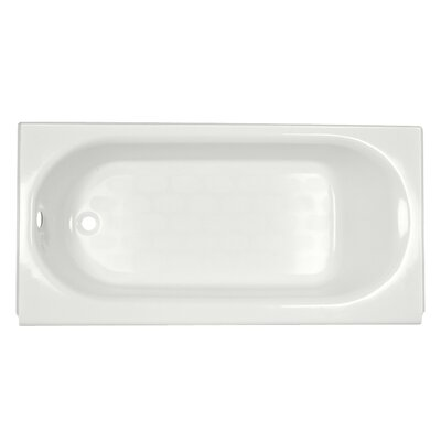 Princeton 60 x 34 Above Floor Luxury Ledge Americast Recessed Soaking Bathtub Finish: White, Drain Location: Left