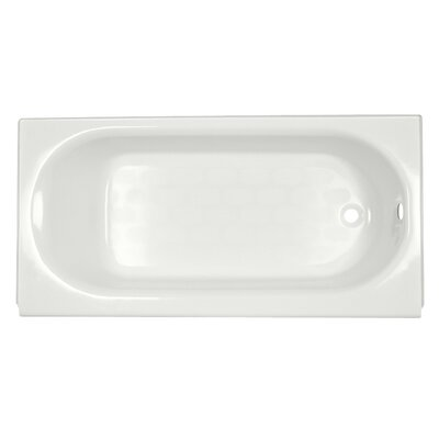 Princeton 60 x 34 Above Floor Luxury Ledge Americast Recessed Soaking Bathtub Finish: White, Drain Location: Right