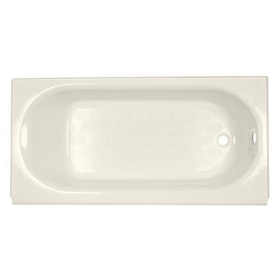 Princeton 60 x 34 Above Floor Luxury Ledge Americast Recessed Soaking Bathtub Finish: Linen, Drain Location: Right