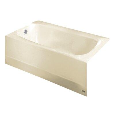 Cambridge 60 x 32 Soaking Bathtub Color: Linen, Drain Location: Left