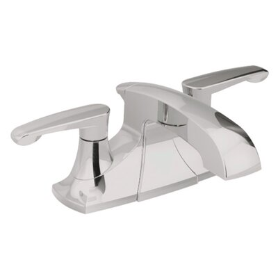 Copeland Centerset Double Handle Bathroom Faucet with Drain Assembly Finish: Satin Nickel