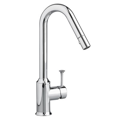 Pekoe Pull Down Single Handle Kitchen Faucet with Side Spray Finish: Polished Chrome