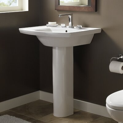 Tropic Vitreous China 27 Pedestal Bathroom Sink with Overflow