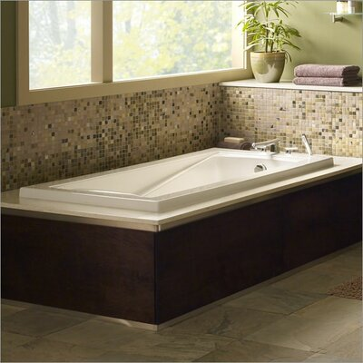 Green Tea 60 x 36 Soaking Bathtub Finish: White