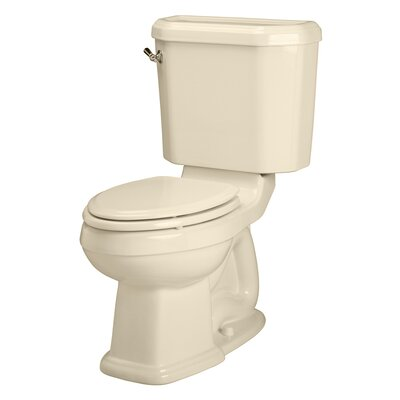 Champion Right Height 1.6 GPF Elongated Two-Piece Toilet Finish: Bone