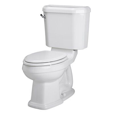 Champion Right Height 1.6 GPF Elongated Two-Piece Toilet Finish: White