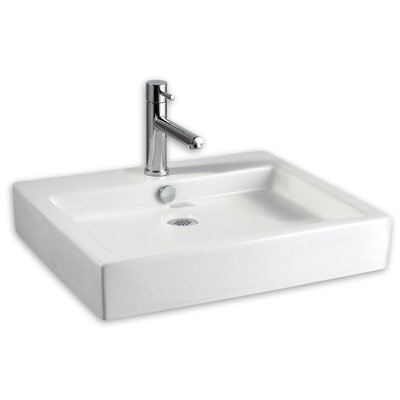 Studio Rectangular Vessel Bathroom Sink with Overflow