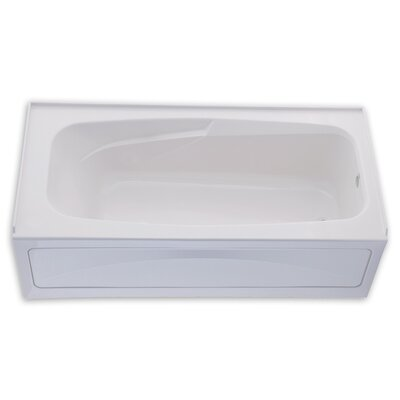 Colony 66 x 32 Soaking Bathtub with Integral Apron Finish: White, Drain Location: Left
