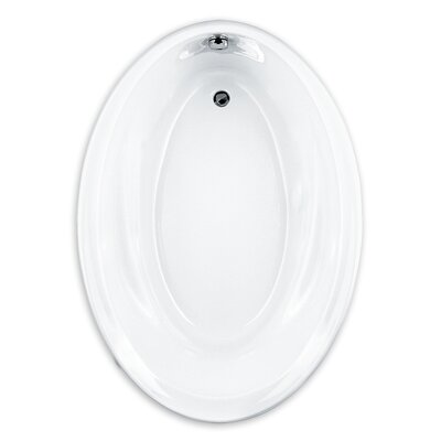 Savona 60 x 42 Oval Soaking Bathtub Finish: White