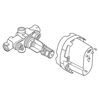 Ceratherm 1/2 Rough Thermostatic Valve Body  (A4216NU)