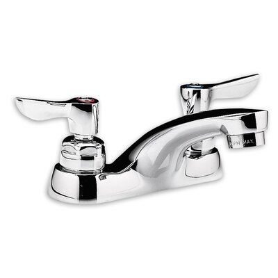 Monterrey Centerset Bathroom Faucet with Double Lever Handles Optional Accessory: With Grid Drain