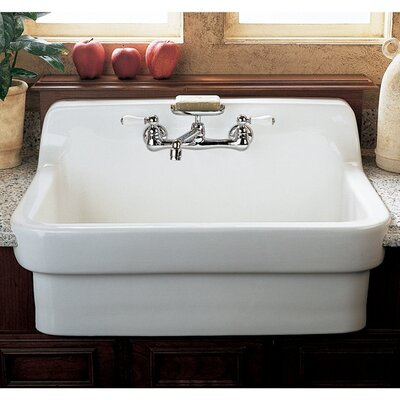 30 x 22 Country Kitchen Sink Finish: White