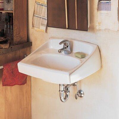 Lucerne Ceramic 21 Wall Mount Bathroom Sink Faucet Mount: Single Hole