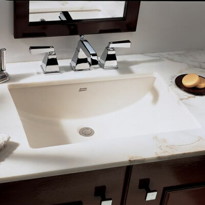 Studio Rectangular Undermount Bathroom Sink with Overflow Sink Finish: White