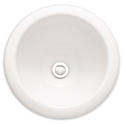 Vitreous China Circular Undermount Bathroom Sink with Overflow Sink Finish: White