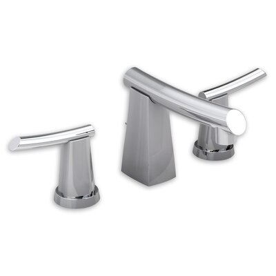 Green Tea Widespread Double Handle Bathroom Faucet with Drain Assembly Finish: Polished Chrome