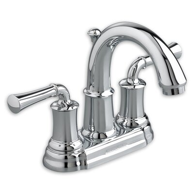 Portsmouth Centerset Bathroom Faucet with Double Lever Handles Finish: Polished Chrome
