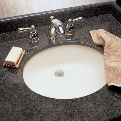 Ovalyn Ceramic Oval Undermount Bathroom Sink with Overflow Sink Finish: Bone
