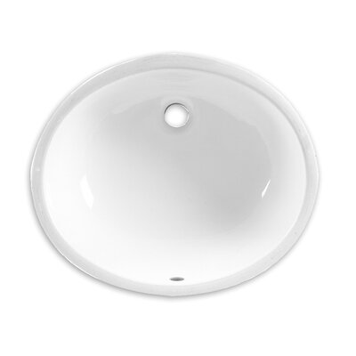 Ovalyn Oval Undermount Bathroom Sink with Overflow