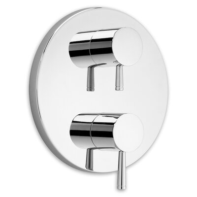 Serin Dual Shower Faucet Trim Kit with Two Handles Finish: Polished Chrome