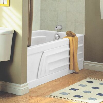 Colony 60 x 30 Air Tub with Integral Apron and Hydro Massage Finish: White, Drain Location: Right