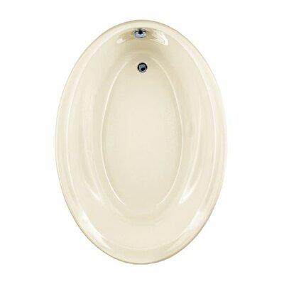 Savona 60 x 42 Oval Soaking Bathtub Finish: Linen