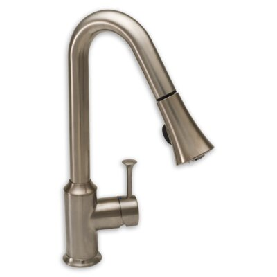 Pekoe Single Handle Single Hole Pull Down Kitchen Faucet with Pull Down Spray Finish: Stainless Steel