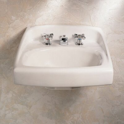 Lucerne 21 Wall Mount Bathroom Sink Faucet Mount: 4 Centers