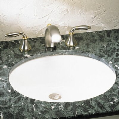 Ovalyn Large Oval Undermount Bathroom Sink with Overflow Sink Finish: White