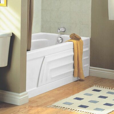 Colony 60 x 30 Integral Apron Soaking Bathtub Finish: White, Drain Location: Right