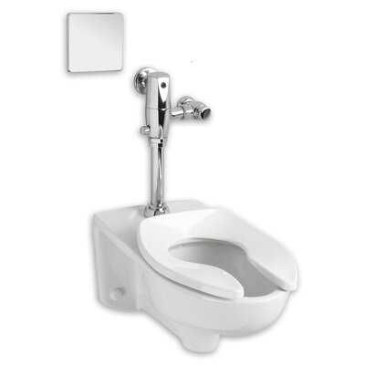 Afwall System Selectronic Exposed AC 1.6 GPF Elongated One-Piece Toilet